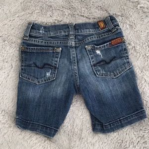 7 for all Mankind girls jean shorts